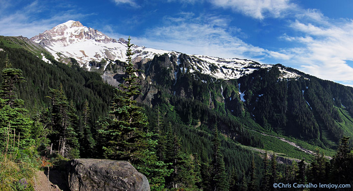 Oregon's Mt. Hood and the Muddy Fork of the Sandy River, McNeil Point Trail